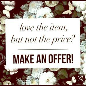 3 items get 15% off!  Make an offer!